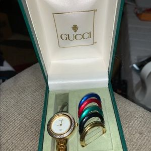 AUTHENTIC VINTAGE GUCCI GOLD TONE WATCH BEZEL